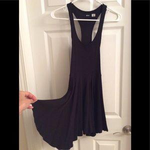 UO BDG Black Waffle Knit Racerback Dress